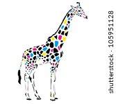 vector giraffe abstract... | Shutterstock .eps vector #105951128