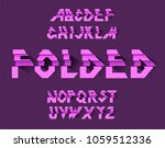 folded paper alphabet vector of ... | Shutterstock .eps vector #1059512336