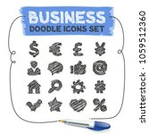 business doodle icons. vector... | Shutterstock .eps vector #1059512360