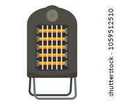 portable heater icon. flat...   Shutterstock .eps vector #1059512510