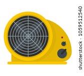 table fan icon. flat... | Shutterstock .eps vector #1059512540