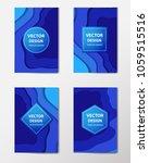 paper cut banners  flyers ... | Shutterstock .eps vector #1059515516