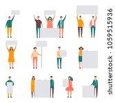 message board people vector...   Shutterstock .eps vector #1059515936