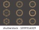 set of circular baroque... | Shutterstock .eps vector #1059516329