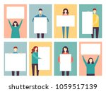 message board people vector... | Shutterstock .eps vector #1059517139
