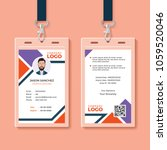 id card template | Shutterstock .eps vector #1059520046