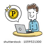 male  internet  points   Shutterstock .eps vector #1059521300