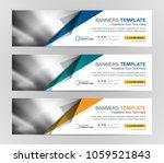 abstract web banner design... | Shutterstock .eps vector #1059521843