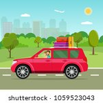 suitcase  bags and other... | Shutterstock .eps vector #1059523043
