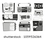 monochrome pictures set of... | Shutterstock .eps vector #1059526364