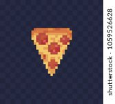 slice of pizza pixel art icon.... | Shutterstock .eps vector #1059526628