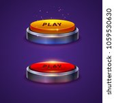 colorful game buttons. vector...   Shutterstock .eps vector #1059530630