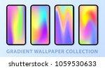 phone gradient wallpaper set.... | Shutterstock .eps vector #1059530633