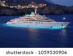 private white luxury superyacht ... | Shutterstock . vector #1059530906
