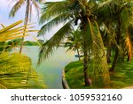 palm trees in tropical lumpini... | Shutterstock . vector #1059532160