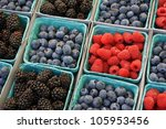 Baskets Of Berries At The...