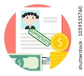 icon of approved loan or credit.... | Shutterstock .eps vector #1059535760