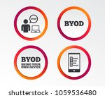 byod icons. human with notebook ... | Shutterstock .eps vector #1059536480