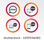 byod icons. notebook and... | Shutterstock .eps vector #1059536483