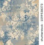 vector damask pattern element.... | Shutterstock .eps vector #1059538373