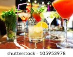 colorful cocktails close up | Shutterstock . vector #105953978