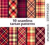 set of seamless tartan pattern   Shutterstock .eps vector #1059541820