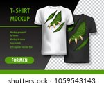 t shirt template  fully... | Shutterstock .eps vector #1059543143
