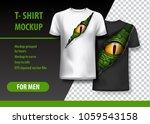 t shirt template  fully... | Shutterstock .eps vector #1059543158