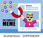 illustration vector of funny... | Shutterstock .eps vector #1059548369