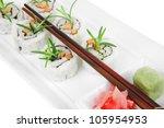 japanese cuisine   california... | Shutterstock . vector #105954953