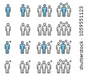 people icons line work group... | Shutterstock .eps vector #1059551123