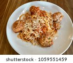 a delicious meal of pork and... | Shutterstock . vector #1059551459