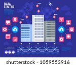 data center infographic. flat... | Shutterstock .eps vector #1059553916