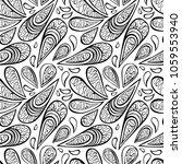 paisley. seamless vector... | Shutterstock .eps vector #1059553940
