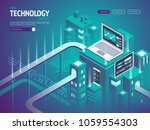 high technology concept.... | Shutterstock .eps vector #1059554303