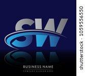 initial letter sw logotype...   Shutterstock .eps vector #1059556550