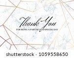 thank you geometric design card ... | Shutterstock .eps vector #1059558650