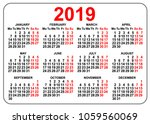 2019 compact grid pocket... | Shutterstock .eps vector #1059560069