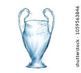football cup made from water... | Shutterstock . vector #1059563846