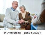 portrait of nice senior couple...   Shutterstock . vector #1059565394