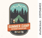 summer camp patch. vector...   Shutterstock .eps vector #1059568403