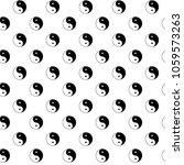 seamless pattern of taijitu  ... | Shutterstock .eps vector #1059573263