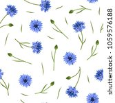 seamless floral pattern with... | Shutterstock .eps vector #1059576188