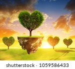 little island with tree in the... | Shutterstock . vector #1059586433
