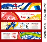 concept of soccer player with... | Shutterstock .eps vector #1059586790