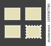 blank postage stamps. set on... | Shutterstock .eps vector #1059587780