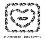 set of two vintage floral... | Shutterstock .eps vector #1059589949