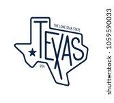 texas related t shirt design.... | Shutterstock .eps vector #1059590033