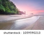 beautiful tropical beach with... | Shutterstock . vector #1059590213
