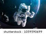 astronaut spacewalking  awesome ... | Shutterstock . vector #1059590699